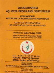 Uluslararası Aşı Sertifikası | Seyahat Sağlığı Hizmeti 1